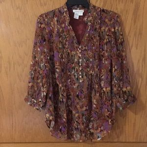 Coldwater Creek Lined Blouse. Sz. S